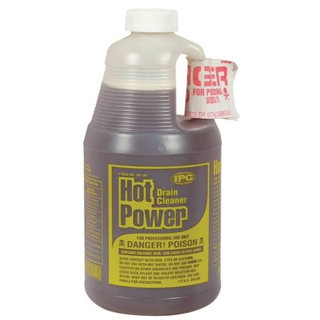 Hot Power 30 140 Drain Cleaner  1 2 Gal  Bottle  Clear To Amber  Liquid
