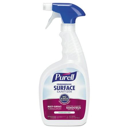 Food Surface Sanitizer - PURELL Foodservice Surface Sanitizer, Fragrance Free, 32 oz Spray Bottle, 3/Carton