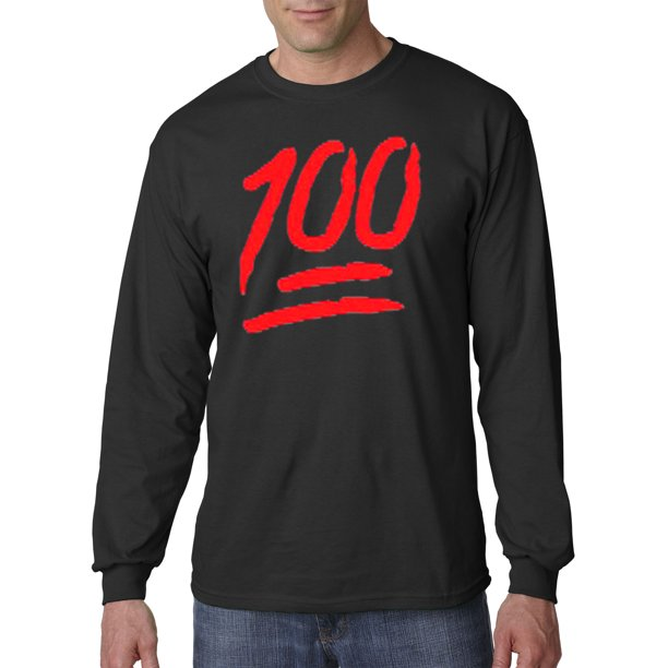 141 - Unisex Long-Sleeve T-Shirt Keep It A Hunnid Hundred 100 Emoji Apple