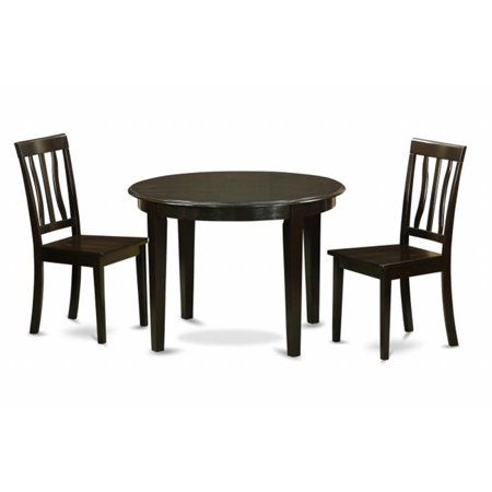 3 Piece Kitchen Nook Dining Set Kitchen Table And 2 Dinette Chairs