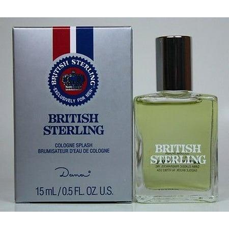British Sterling by DANA .5oz/15ml Cologne Splash for Men British Sterling Cologne Spray