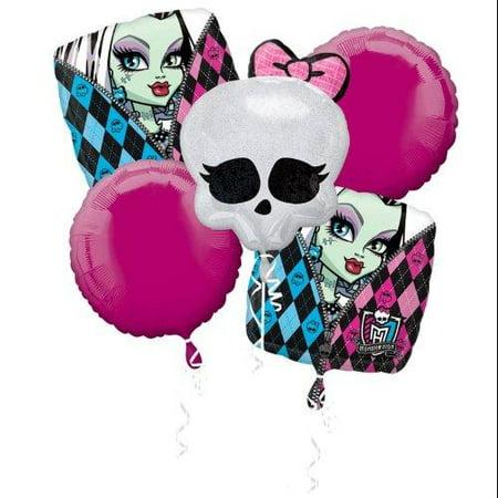 Monster High Foil Mylar Balloon Bouquet - Monster High Balloons