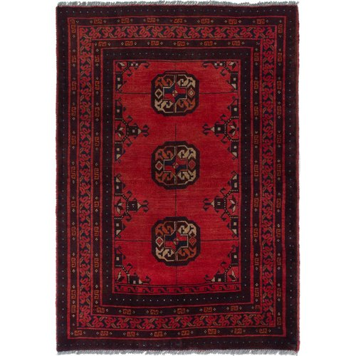 Isabelline One-of-a-Kind Kaler Hand-Knotted 3'2'' x 4'8'' Wool Dark Copper Area Rug