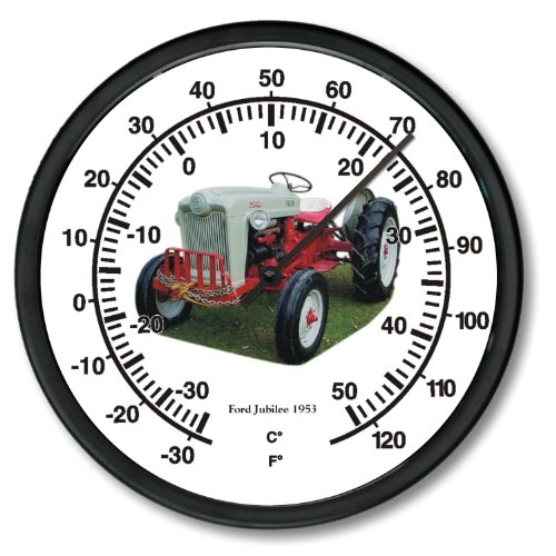 """New 1953 Ford Jubilee Tractor Wall Thermometer 10"""" Round"""