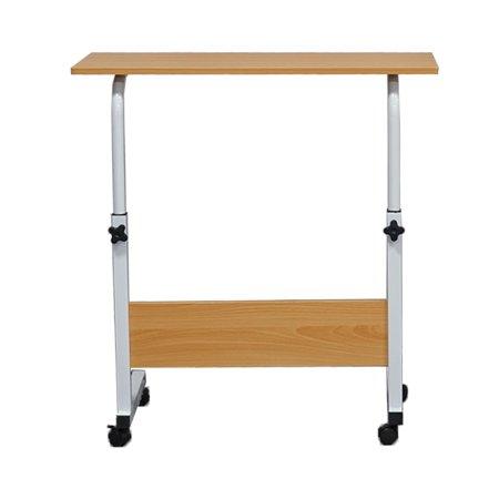 Living Room Sofa Side Wood Steel Table Height Adjustable Writing Study Desk Bedroom Lady Laptop Table ()