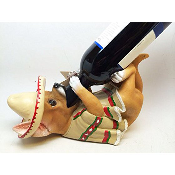 Kitchen Mexican Chihuahua Dog Wine Bottle Holder Salt Pepper Shakers