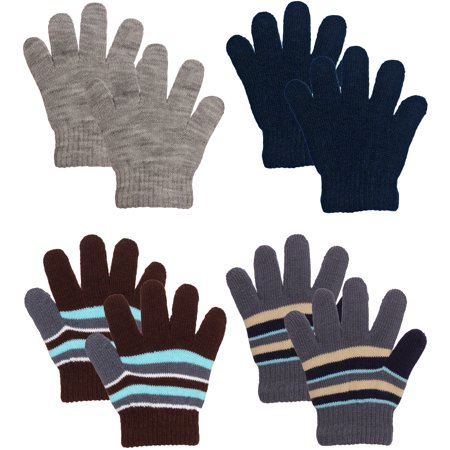 Emmalise Children Kids Winter Cold Weather Winter Knit Gloves - 3 - 8 yrs
