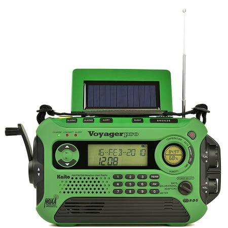 Kaito Ka600l Solar Crank Noaa Weather Radio With Am Fm Shortwave   Green