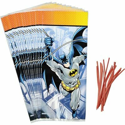 Batman Treat and Candy Bags - 16 Count - 1912-5140 - National Cake Supply](Batman Party Supplies)
