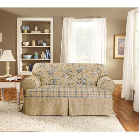 Astounding Sure Fit Lexington T Cushion One Piece Loveseat Slipcover Ncnpc Chair Design For Home Ncnpcorg