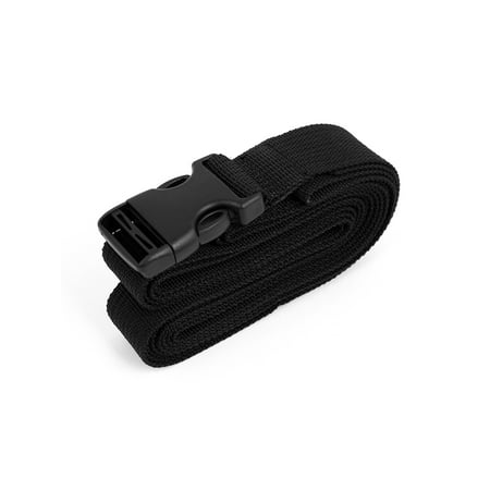 Side Release Buckle Luggage Suitcase Backpack Baggage Belt Strap Black 1.5Mx25mm Easy Go Luggage Strap