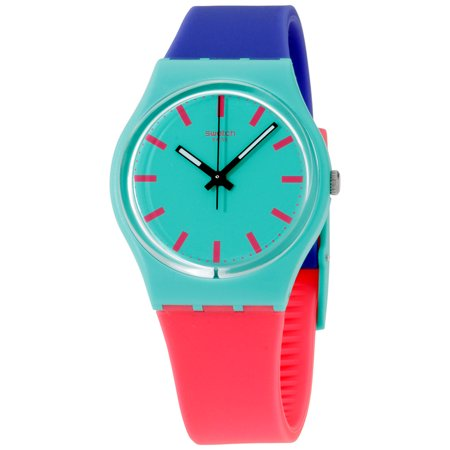 Swatch Originals Shunbukin Green Dial Silicone Strap Unisex Watch