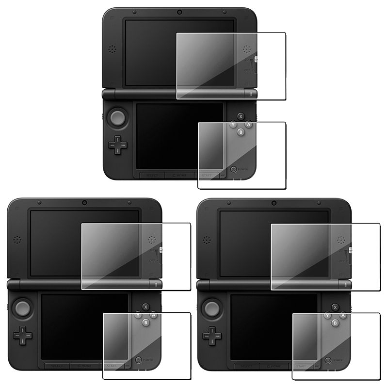 Insten 3 x Clear Top+Bottom Screen Protector 2-LCD Film For Nintendo NEW 3DS XL LL / 3DS XL LL - Bundle Set