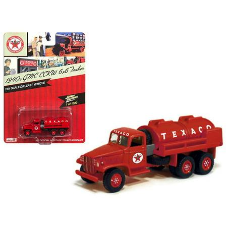 "1940 GMC CCWK 6x6 Tanker ""Texaco"" 1/64 Diecast Model Car by Johnny Lightning"