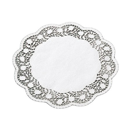 Paderno World Cuisine Paper Doilies Round Disposable Placemats 11 88 250pk White