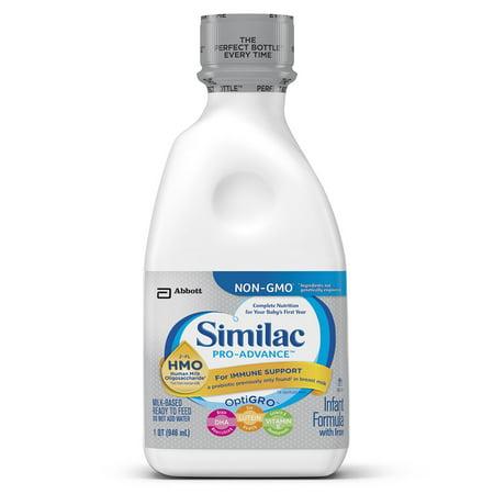 Similac Pro Advance Infant Formula With 2 Fl Human Milk Oligosaccharide  Hmo  For Immune Support  Ready To Feed  32 Fl Oz