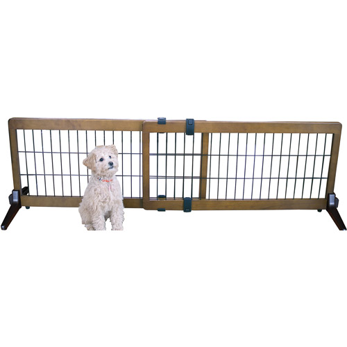 Pet Fence Gate Free Standing Adjustable Dog Gate Indoor
