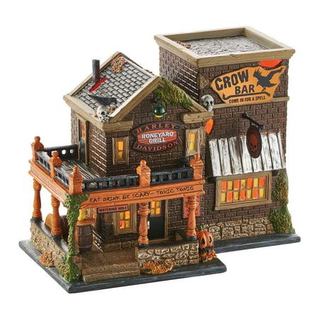 West Village Bars For Halloween (Dept 56 Halloween Village 4049322 Harley Crow Bar)