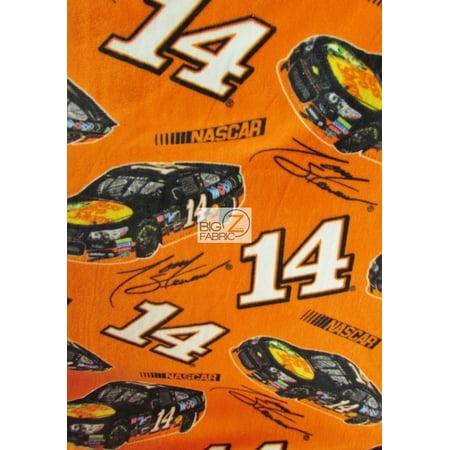 Outdoor Research Fleece (David Textiles Fleece Printed Fabric / NASCAR Race Car Orange / Sold By The Yard )