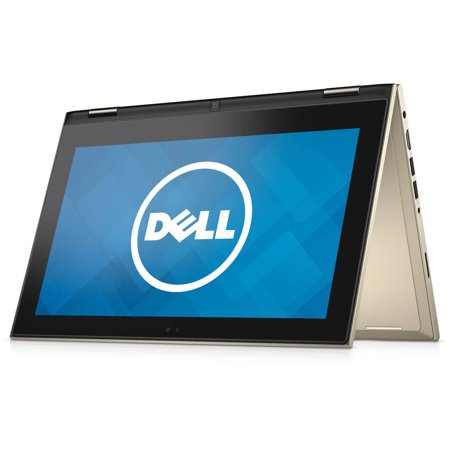Dell Inspiron 11 3000 11.6  Laptop, Touchscreen, 2-in-1, Windows 10 Home, Intel Pentium N3700 Processor, 4GB RAM, 128GB Solid State Drive Dell Inspiron 11 3000 11.6  Laptop: Key Features and Benefits:11.6  touchscreen displayLED Backlight, HD Truelife Touchscreen Display2-in-1 designConvert from laptop mode to tablet mode with easeIntel Pentium N3700 processor2.40GHz4GB DDR3L system memoryGives you the power to handle most power-hungry applications and tons of multimedia work128GB solid state driveStore 85,000 photos, 36,000 songs or 67 hours of HD video and moreLong-lasting battery life gives you all day to access your photos, videos, music and documentsIntel HD GraphicsWeight: 3.07 lbsThin design you can easily take on the road802.11b/g/n Wireless LANWirelessly connect to a WiFi signal or hotspot with the 802.11b/g/n connection built into your PCAdditional Features: HD webcamSD card readerBluetooth 4.0Standard Kbd keyboard1 x DC-in port, 1 x HDMI port, 1 x headphone/microphone jack, 1 x USB 2.0 port, 2 x USB 3.0 ports3-cell batteryDimensions: 0.76  x 11.81  x 7.89 Color: GoldSoftware: Genuine Microsoft Windows 10 Home 64-bitMcAfee LiveSafe 30-day trialBackup and Restore options built into Windows allow you to create safety copies of your most important personal files, so you're always prepared for the worstSupport and Warranty:1-year limited hardware warranty; 24/7 technical assistance available online or toll-free by phoneWhat's In The Box: Power cord and AC adapterQuick Start GuideTo see the manufacturer's specifications for this product, click here. To see a list of our PC Accessories, click here. Trade in your used computer and electronics for more cash to spend at Walmart. Good for your wallet and the environment - click here.
