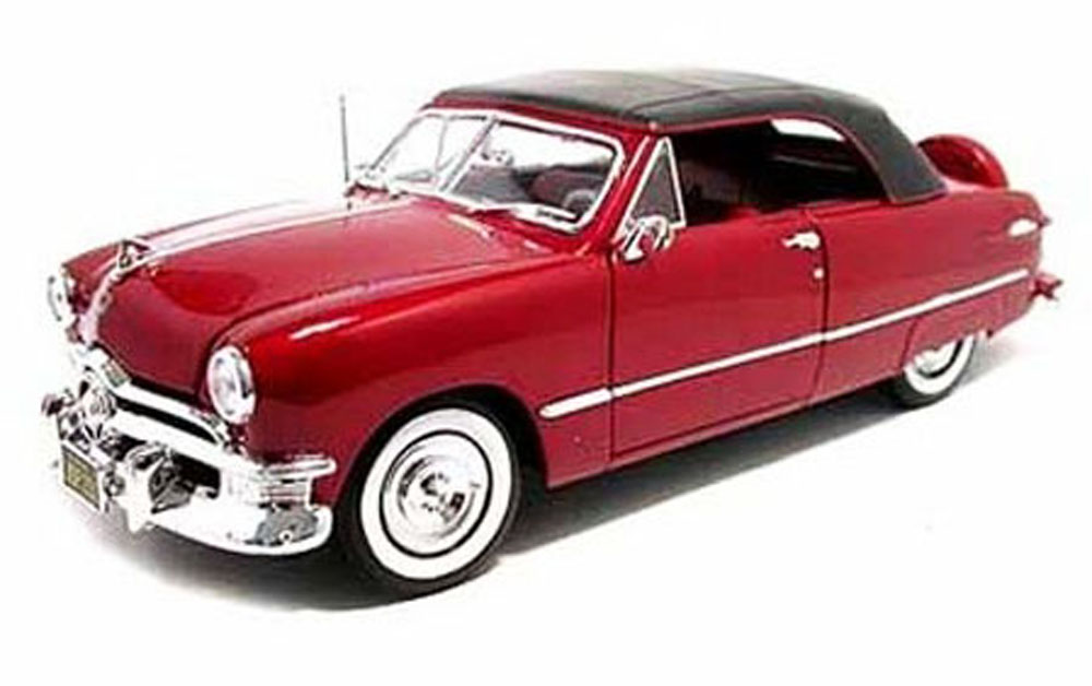 1950 Ford Convertible, Red Maisto 31681 1 18 Scale Diecast Model Toy Car by Maisto