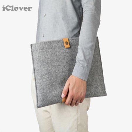 MacBook 15 Inch Sleeve Bag, IClover Felt Laptop Ultrabook Netbook Carry Case Cover Pouch for macbook 15.4