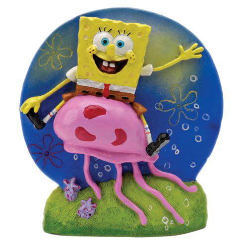 Penn Plax SpongeBob and Jellyfish Aquarium Figure