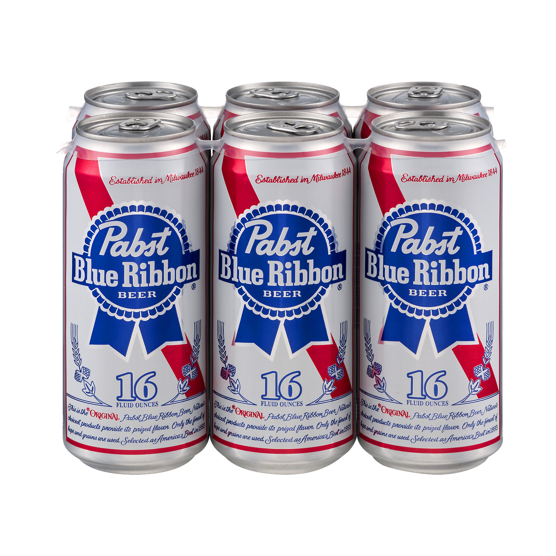 Pabst Blue Ribbon Beer 6 pk 16 fl oz Cans