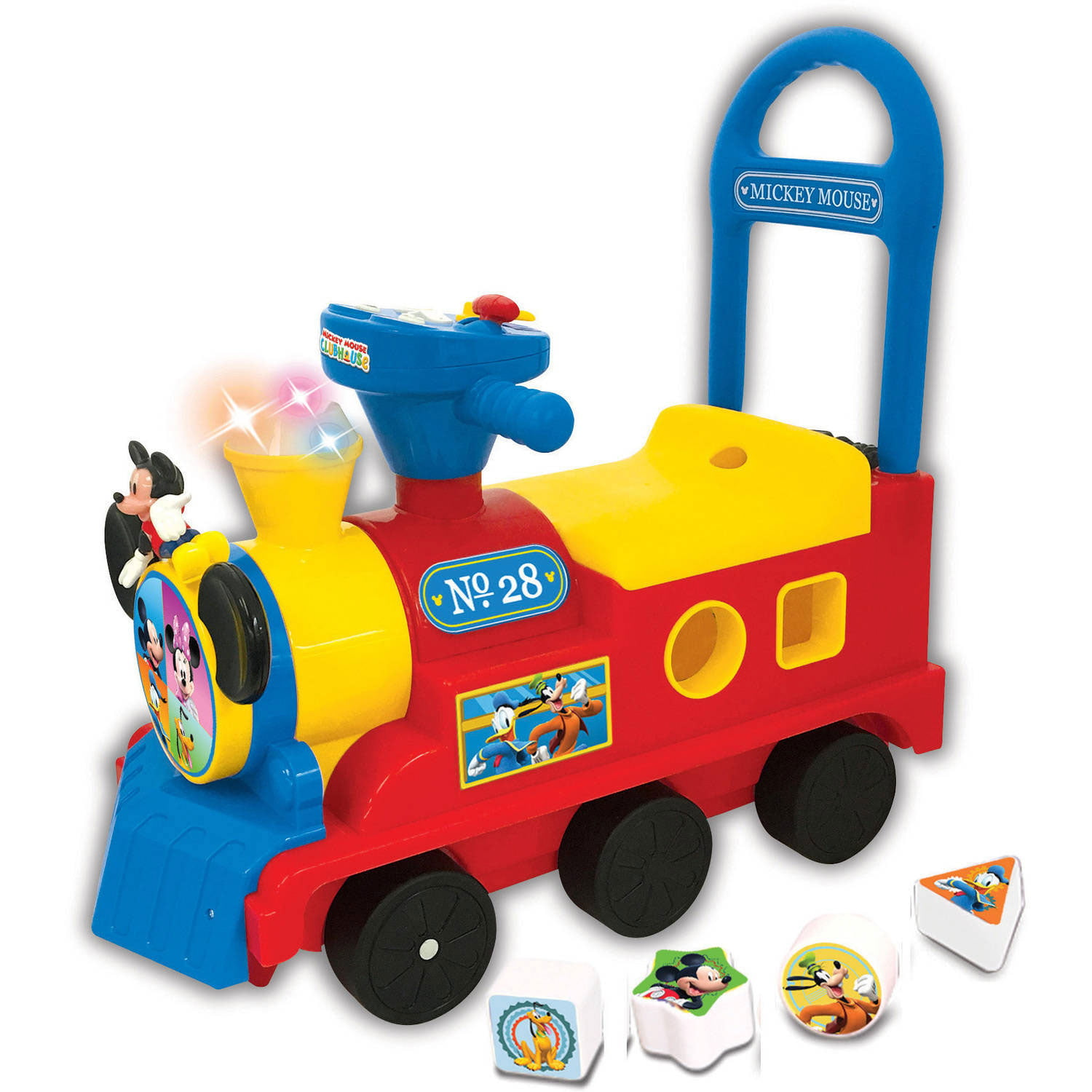 Kiddieland Disney Mickey Mouse Clubhouse Play n' Sort Activity Train Ride-On by Kiddieland