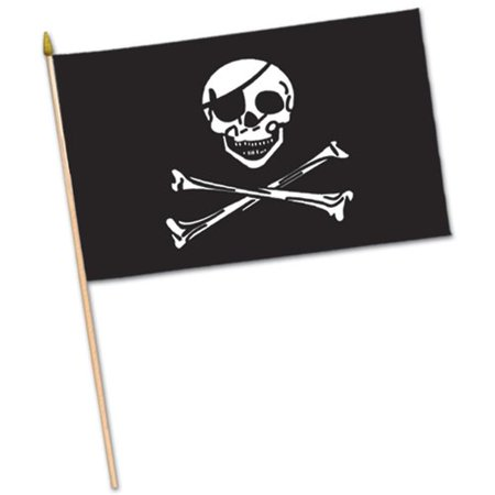 - The Beistle Company Pirate Fabric Traditional Flag (Set of 12)