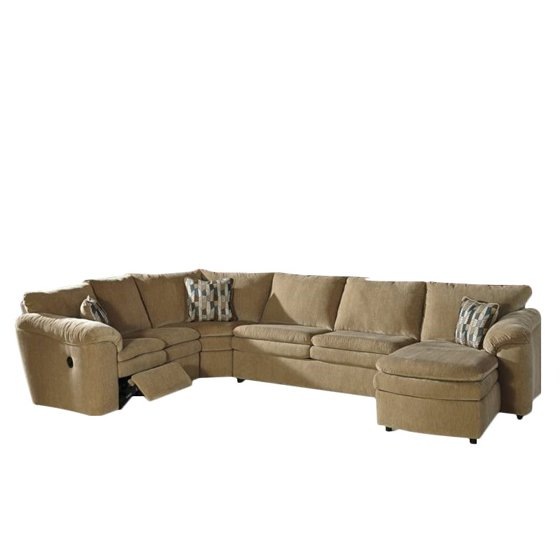 Ashley Coats 4 Piece Reclining Sleeper Sectional In Dune