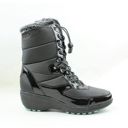 Khombu Womens Ashao Black Snow Boots Size 9