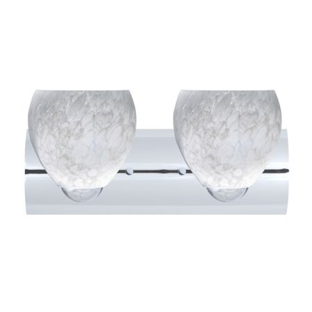 Besa Lighting 2WZ-412219 Bolla 2 Light Reversible Bathroom Vanity Light with Car