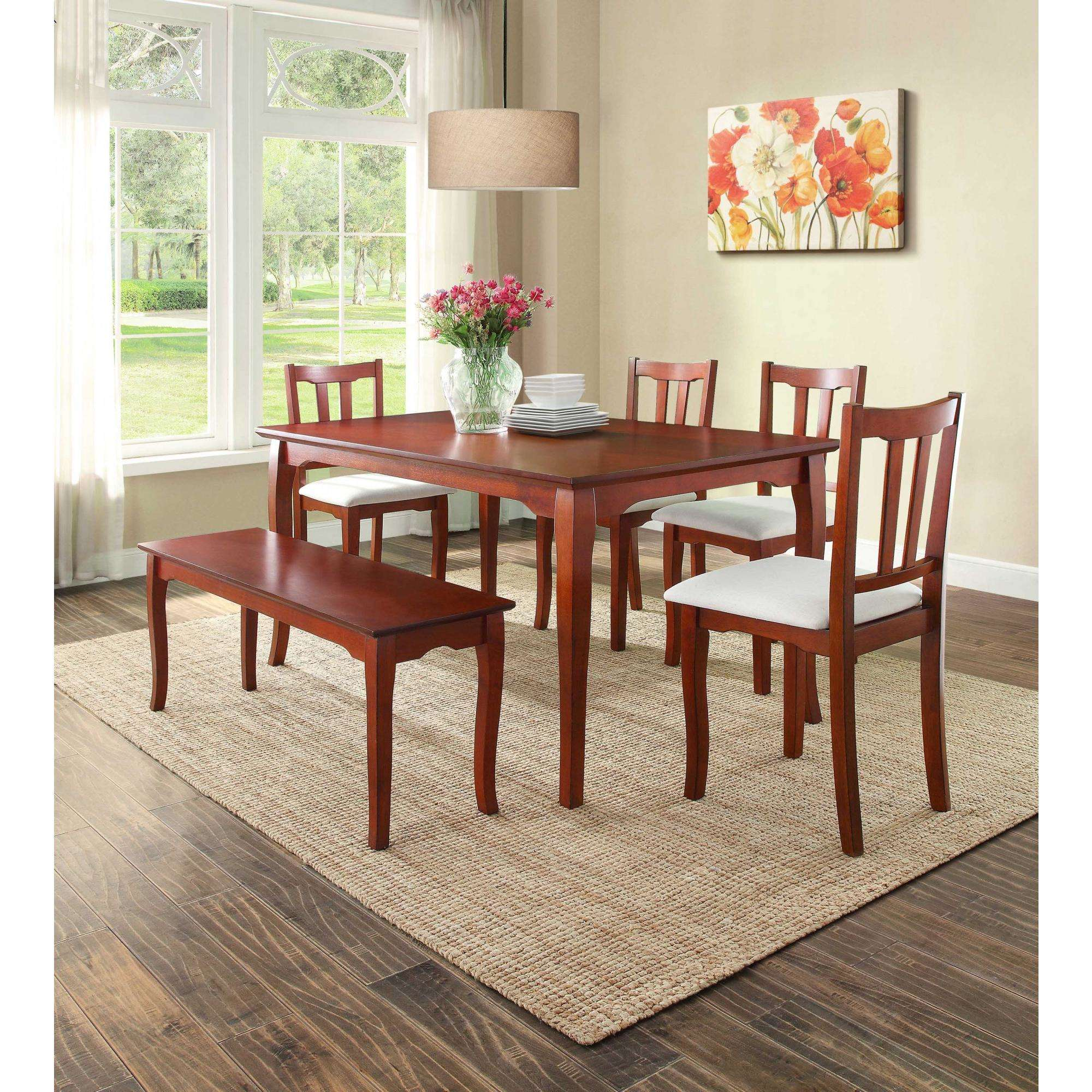 Better Homes and Gardens Ashwood Road Dining Table, Brown Cherry by Generic