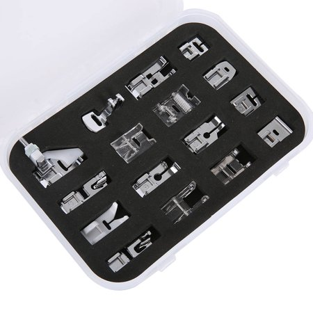 16-Piece Household Multifunctional Sewing Machine Presser Foot Set For Brother, Elna, Janome, Jones, Frister & Rossman, Husqvarna, Pfaff, Singer, Toyota, Viking Etc