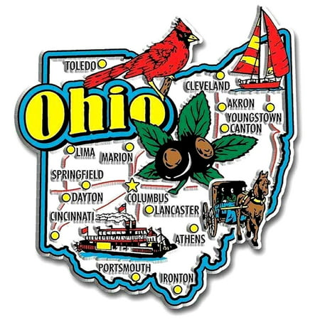 Ohio Jumbo State Map Fridge Magnet