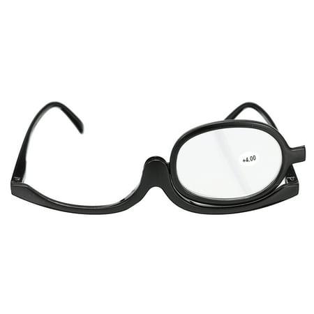 1.0-4.0x Magnify Eye Makeup Glasses Single Lens Rotating Glasses Women Makeup Essential Tool,Makeup Glasses,Rotating Makeup (Eyeglasses Fix Near Me)