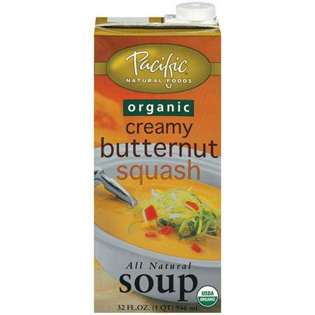 (2 Pack) Pacific Natural Foods Organic Creamy Butternut Squash Soup, 32 fl oz