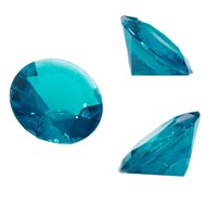 Acrylic Gemstone Diamonds (150 Count), Turquoise