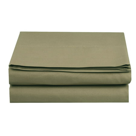 1500 Thread Count Egyptian Quality 1-Piece Fitted Sheet, Twin/Twin XL Size, Sage ()