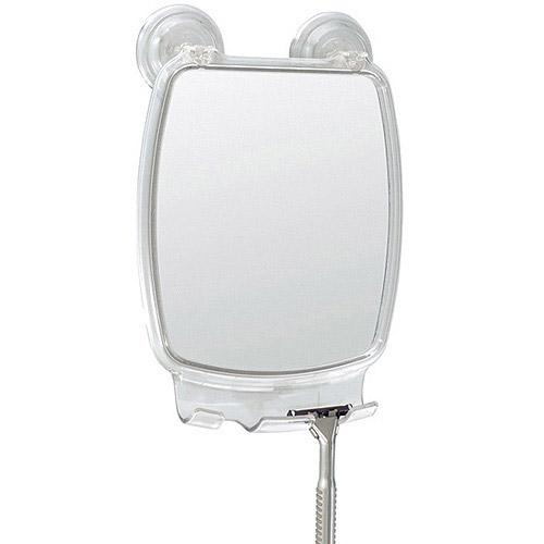 InterDesign Powerlock Fog-Free Rectangle Mirror, Clear