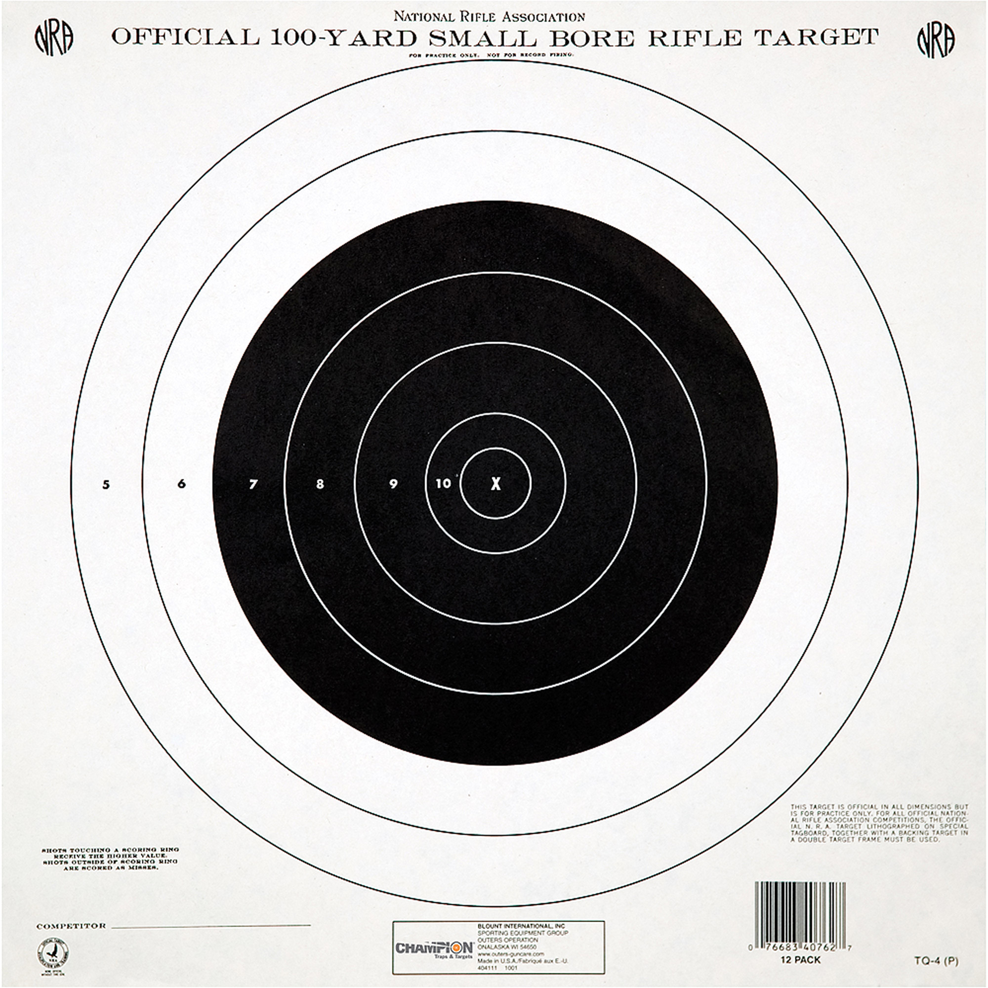 photograph regarding Printable Nra Pistol Targets titled Winner Traps and Objectives GB3 NRA Emphasis, 50 Toes Pistol Timed and Quick Fireplace, 12pk