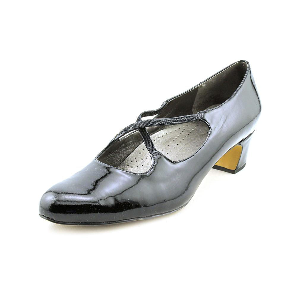 Trotters Jamie Round Toe Patent Leather Heels by Trotters