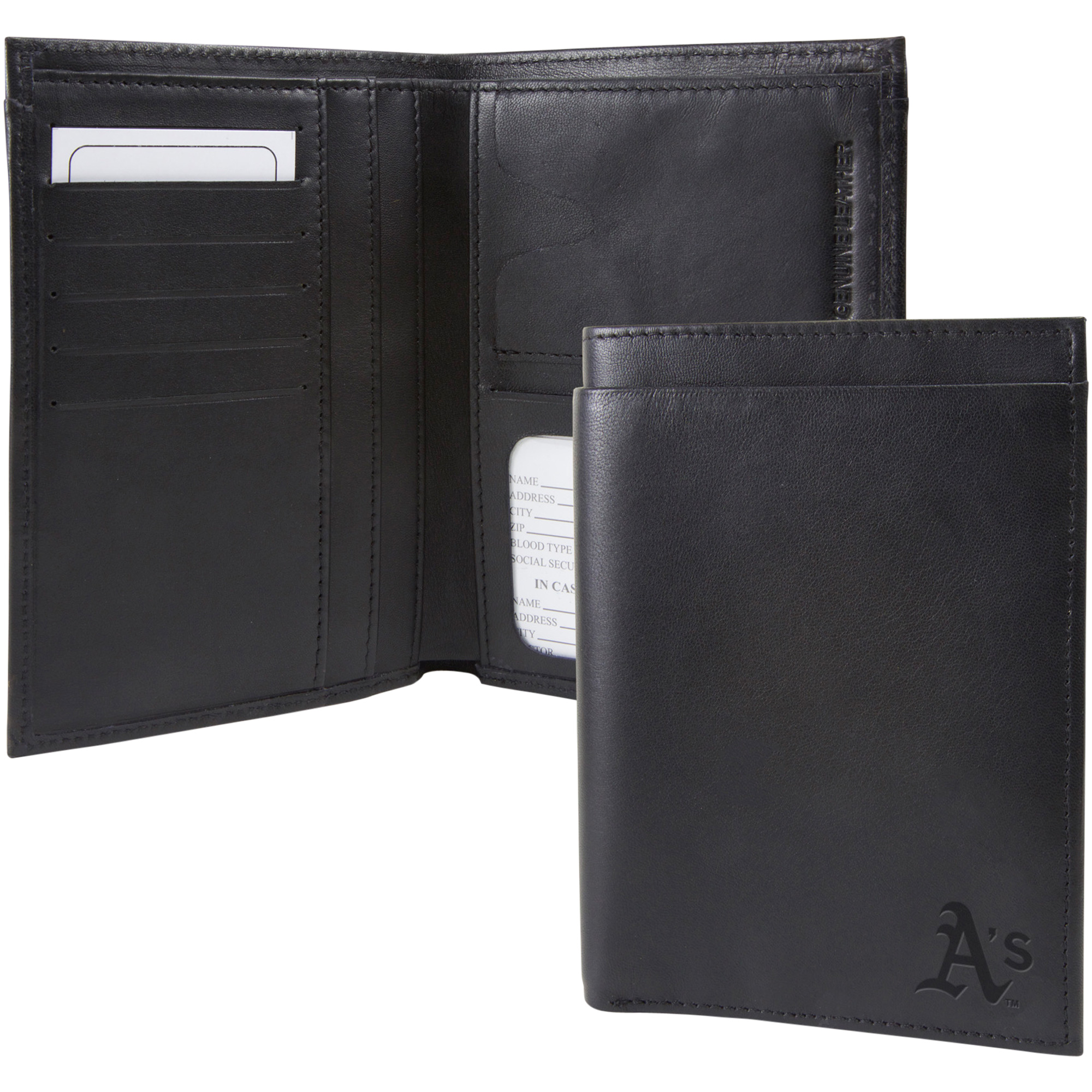 Oakland Athletics Traveling Team Passport Wallet - Black - No Size