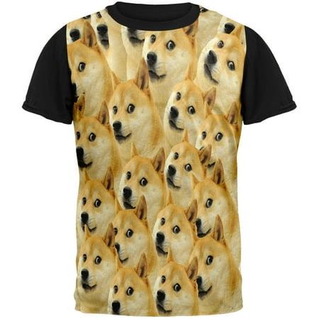 Doge Meme Adult Black Back - Halloween Doge Meme
