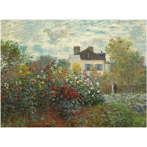 "Trademark Fine Art ""The Artist's Garden In Argenteuil"" Canvas Art by Claude Monet"
