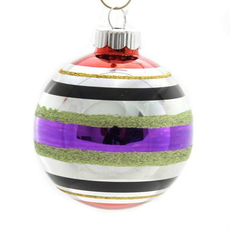 Christopher Radko HALLOWEEN ROUNDS AND FIGURES Glass Ornament 4026975S Purple (Radko Halloween)