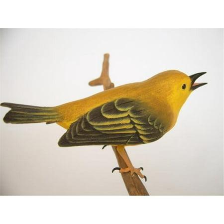 3 Beyond Inc. YWARB03 Yellow Warble Wood Bird - Warbling Bird