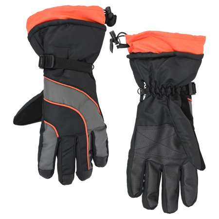 Men's Cold Front Waterproof and Windproof Technical Snowboard Gloves with Zipper Pocket