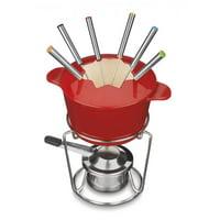 Cuisinart Cast Iron 13-Pc Fondue Set - Red